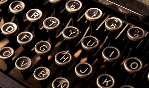 Old typewriter keys. ©Robin Nelson